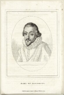 Robert Cecil, 1st Earl of Salisbury, published by George Smeeton, published 1 August 1814 - NPG D25763 - © National Portrait Gallery, London