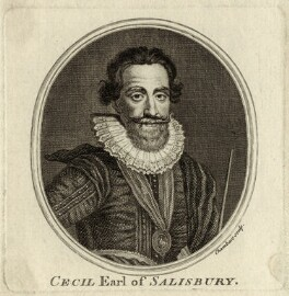 Robert Cecil, 1st Earl of Salisbury, by Thomas Chambers (Chambars) - NPG D25764
