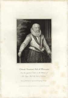 Edward Somerset, 4th Earl of Worcester, by R. Cooper, after  Federico Zuccaro - NPG D25771