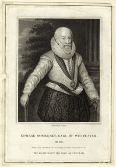 Edward Somerset, 4th Earl of Worcester, by J. Parker, after  Federico Zuccaro - NPG D25772