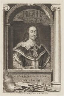 King Charles I, by George Vertue, after  Sir Anthony van Dyck - NPG D31963