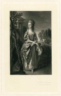 Frances Bowater (née Duncombe), by James Scott, after  Thomas Gainsborough - NPG D32015