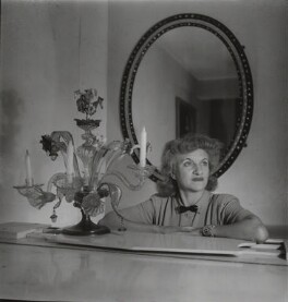 Hermione Gingold, by Francis Goodman - NPG x131046