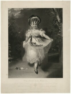 Louisa Georgiana Augusta Anne Boyce (née Murray) ('The Child with Flowers'), by and published for George Thomas Doo, printed by  McQueen (Macqueen), published by  Sir Francis Graham Moon, 1st Bt, sold by  Hodgson, Boys & Graves, after  Sir Thomas Lawrence - NPG D32028