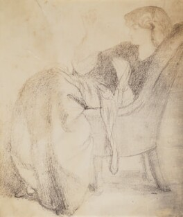 Jane Morris (née Burden), by Lewis Carroll, after  Dante Gabriel Rossetti - NPG P1273(4a)