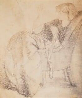 Jane Morris (née Burden), by Lewis Carroll (Charles Lutwidge Dodgson), after  Dante Gabriel Rossetti, 8 October 1863, based on a work of 1861 - NPG P1273(4a) - © National Portrait Gallery, London