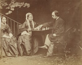 Maria Francesca Rossetti; Frances Mary Lavinia Rossetti (née Polidori); Dante Gabriel Rossetti, by Lewis Carroll (Charles Lutwidge Dodgson), 7 October 1863 -NPG P1273(21b) - © National Portrait Gallery, London