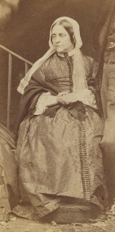 Frances Mary Lavinia Rossetti (née Polidori), by Lewis Carroll (Charles Lutwidge Dodgson), 7 October 1863 - NPG P1273(26e) - © National Portrait Gallery, London