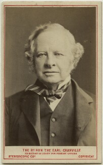 Granville George Leveson-Gower, 2nd Earl Granville, by London Stereoscopic & Photographic Company - NPG Ax28469