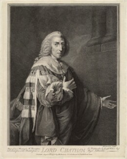 William Pitt, 1st Earl of Chatham, by John Keyse Sherwin, after  Richard Brompton - NPG D32032