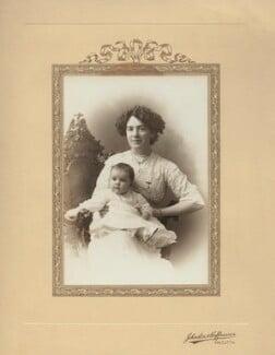 John Strachey; Margaret Winifred Strachey (née Severs), by Johnston & Hoffmann - NPG x26185