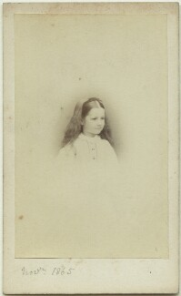 Elinor Rendel (née Strachey), by Henry Lenthall, November 1865 - NPG x13869 - © National Portrait Gallery, London