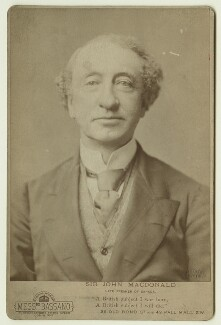 Sir John Alexander Macdonald, by Alexander Bassano - NPG x20206