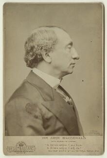 Sir John Alexander Macdonald, by Alexander Bassano - NPG x20207