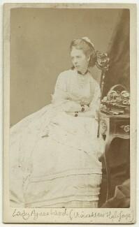 Agnes Elizabeth Wood (née Courtenay), Viscountess Halifax, by Alexander Bassano - NPG x45718