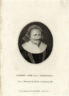 Robert Carr, Earl of Somerset, published by Silvester (Sylvester) Harding, after  John Hoskins - NPG D25784