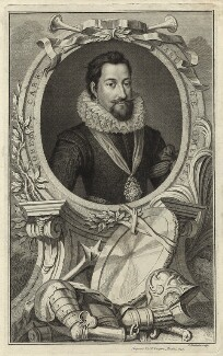 Robert Carr, Earl of Somerset, by Jacobus Houbraken, published by  John & Paul Knapton - NPG D25787
