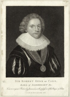 Robert Carr, Earl of Somerset, published by Edward Jeffery, after  George Jamesone - NPG D25788