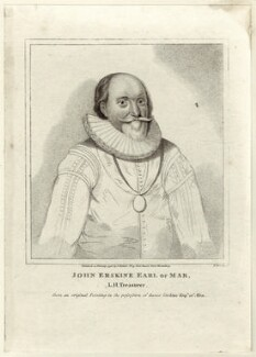 John Erskine, 18th or 2nd Earl of Mar, by Piercy Roberts, published by  Isaac Herbert - NPG D25791