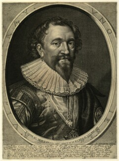 William Herbert, 3rd Earl of Pembroke, by Robert van Voerst, after  Daniel Mytens - NPG D25796