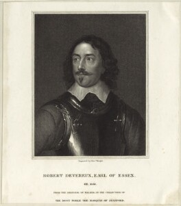 Robert Devereux, 3rd Earl of Essex, by Thomas Wright - NPG D25804