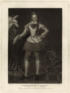 Henry Wriothesley, 3rd Earl of Southampton, by Robert Dunkarton, published by and after  George Perfect Harding - NPG D25807