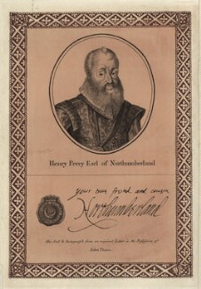 Henry Percy, 9th Earl of Northumberland, printed and published by John Thane - NPG D25812