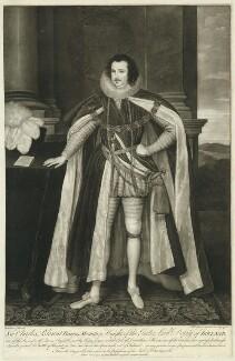 Charles Blount, Earl of Devonshire, by Valentine Green, after  Paul van Somer - NPG D25822