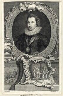 George Villiers, 1st Duke of Buckingham, by Jacobus Houbraken, after  Cornelius Johnson (Cornelius Janssen van Ceulen) - NPG D25823