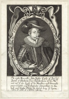 John Digby, 1st Earl of Bristol, possibly by Renold or Reginold Elstrack (Elstracke), printed and published by  William Peake - NPG D25824