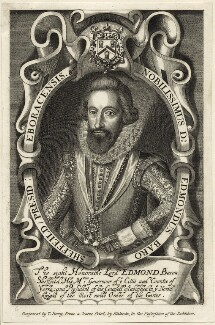 Edmund Sheffield, 1st Earl of Mulgrave, by T. Berry, published by  Thomas Rodd the Elder, after  Renold or Reginold Elstrack (Elstracke) - NPG D25836