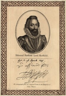 Edmund Sheffield, 1st Earl of Mulgrave, printed and published by John Thane - NPG D25838
