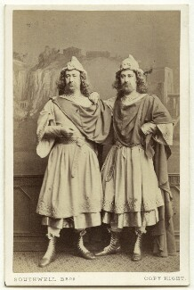 George James Vining as Antipholus of Syracuse; John Nelson as Antipholus of Ephesus in 'The Comedy of Errors', by Southwell Brothers, 1864 - NPG  - © National Portrait Gallery, London