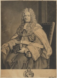 Thomas Parker, 1st Earl of Macclesfield, after George Vertue, after  Sir Godfrey Kneller, Bt, (1712) - NPG D32034 - © National Portrait Gallery, London