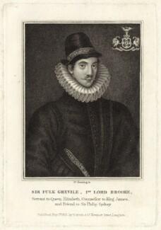Fulke Greville, 1st Baron Brooke of Beauchamps Court, by Burnet Reading - NPG D25850