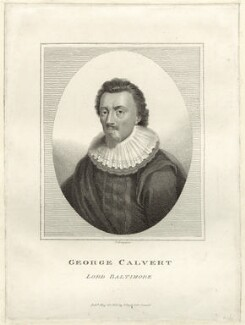 George Calvert, 1st Baron Baltimore, by E. Bocquet, published by  John Scott - NPG D25853