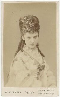 Teresa Elizabeth Furtado (Mrs John Clarke), by Elliott & Fry - NPG x74539