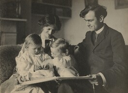 Sylvia Lynd; Robert Lynd and their two daughters, by Unknown photographer - NPG x1600