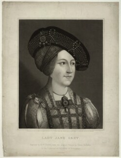 Anne, Queen of Hungary wrongly identified as Lady Jane Grey, by Robert William Sievier, after  Hans Maler, published 1822 (1519) - NPG D32037 - © National Portrait Gallery, London