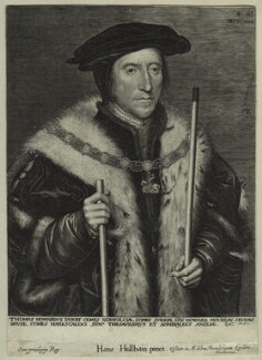 Thomas Howard, 3rd Duke of Norfolk, by Lucas Vorsterman, after  Hans Holbein the Younger - NPG D32038