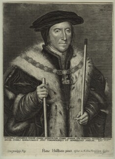 Thomas Howard, 3rd Duke of Norfolk, by Lucas Vorsterman, after  Hans Holbein the Younger - NPG D32039