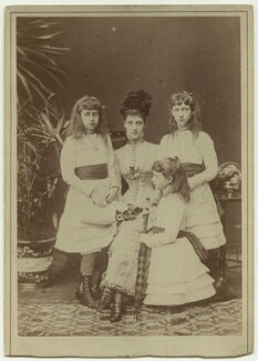 Alexandra of Denmark and her daughters, by W. & D. Downey - NPG x33253