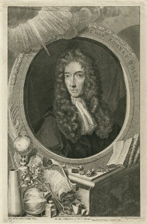 Robert Boyle, by George Vertue, after  Johann Kerseboom - NPG D32052