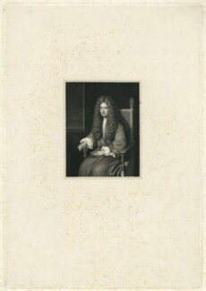 Unknown man formerly called Robert Boyle, by William Holl Sr, or by  William Holl Jr, after  Unknown artist - NPG D32053
