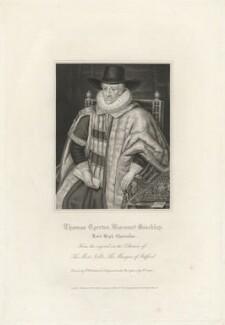Thomas Egerton, 1st Viscount Brackley, by Robert Cooper, after  Robert William Satchwell, after  Unknown artist - NPG D32059