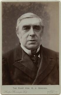 George Joachim Goschen, 1st Viscount Goschen, by London Stereoscopic & Photographic Company - NPG x17085