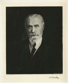 Francis Herbert Bradley, by Henry Dixon & Son, after  Reginald Grenville Eves - NPG D32067