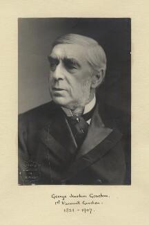 George Joachim Goschen, 1st Viscount Goschen, by London Stereoscopic & Photographic Company - NPG x12499