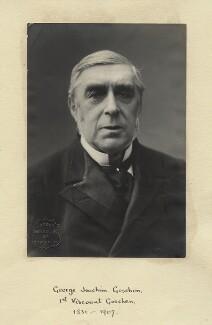 George Joachim Goschen, 1st Viscount Goschen, by London Stereoscopic & Photographic Company - NPG x12500