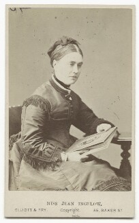 Jean Ingelow, by Elliott & Fry, 1870s - NPG x12121 - © National Portrait Gallery, London